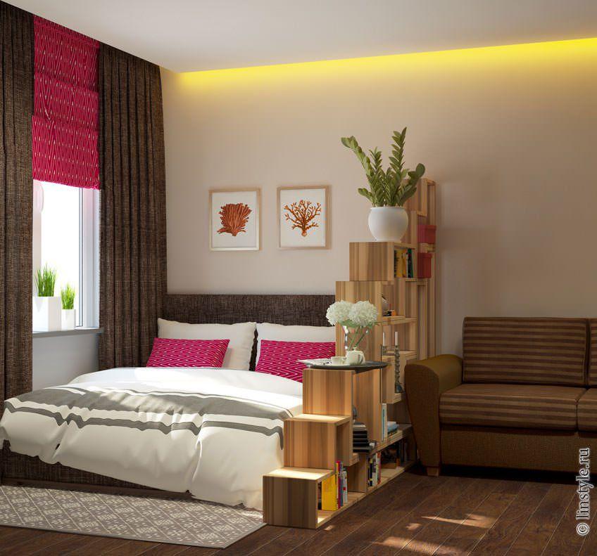 Фото интерьера спальня гостиная