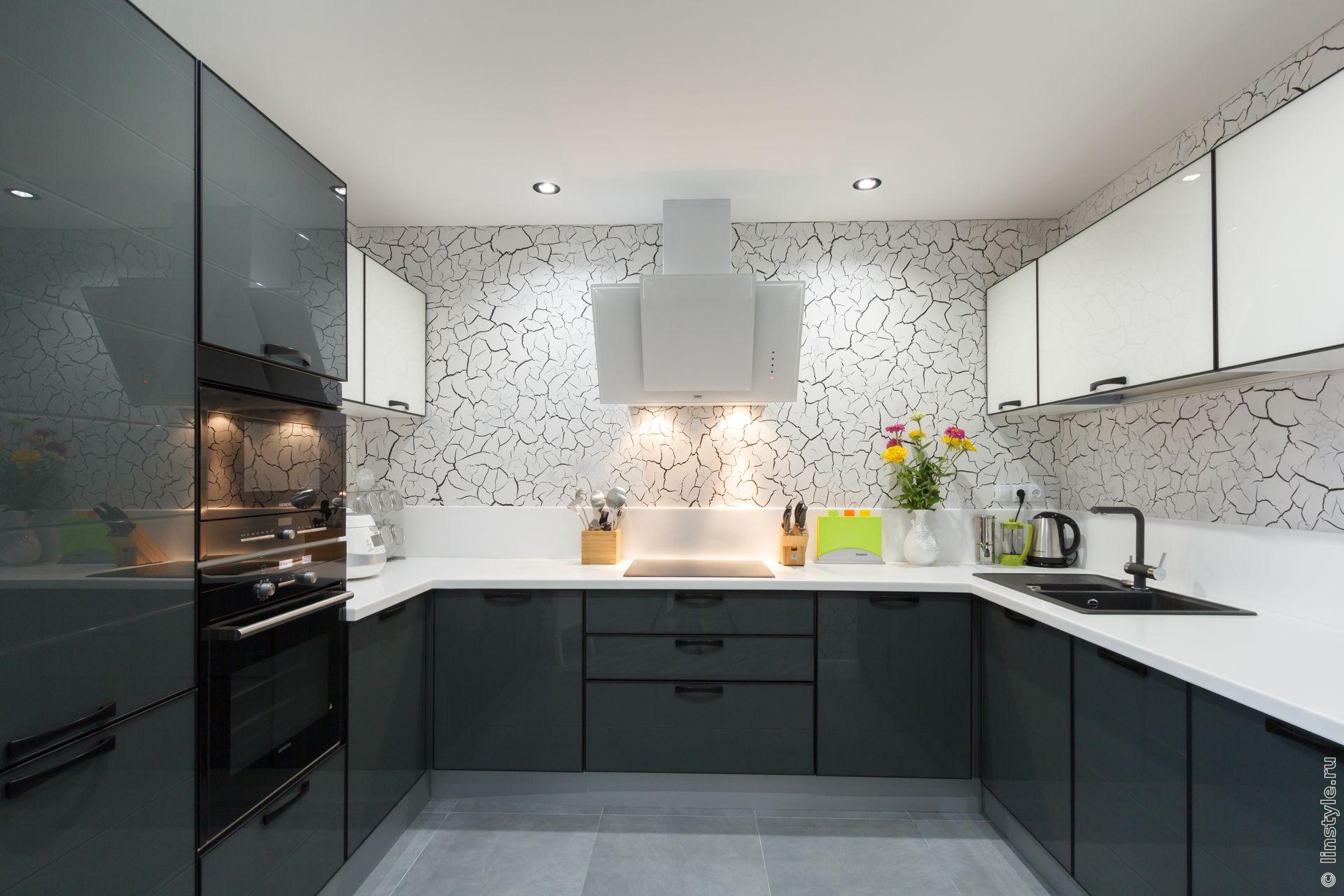 Бело серая кухня дизайн фото
